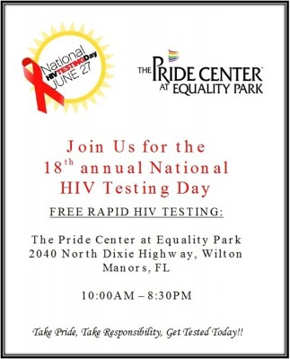 National HIV Testing Day Flyer