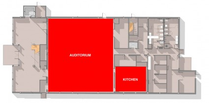 Pride Center Map First Floor