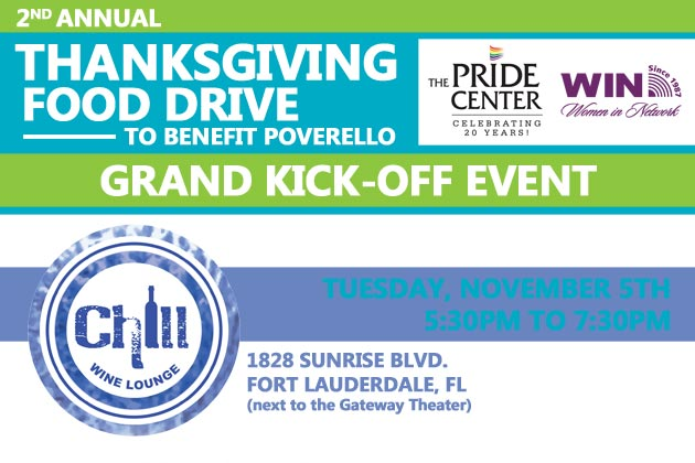 2nd Annual Thanksgiving Food Drive | Pride Center At ...