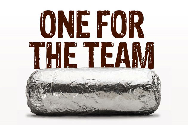 Image result for chipotle one for the team