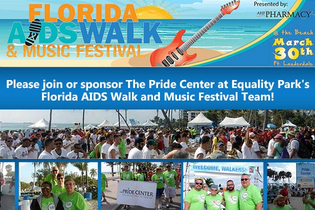 Join or Sponsor The Pride Center at Equality Park's Florida AIDS Walk and Music Festival!