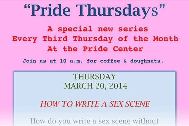Pride Thursdays: How to Write a Sex Scene