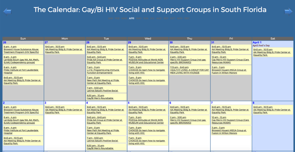 Gay/Bi HIV Social and Support Groups in South Florida